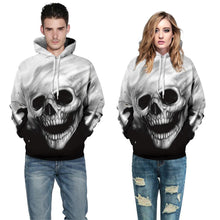 Load image into Gallery viewer, Halloween Skull Print Hoodie S-5XL Plus Size Halloween Costumes