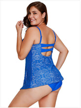 Load image into Gallery viewer, Openwork Flyaway Plus Size Tankini Set