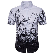 Load image into Gallery viewer, Men's Casual Twig Print Short Sleeve Large Size Shirt