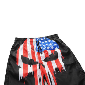 Men's 3D Flag Taro Print Casual Shorts
