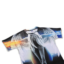 Load image into Gallery viewer, 3D Angel Printed Loose Short Sleeve T-shirt