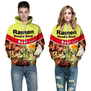 Ramen 3D Digital Print Hooded Sweatshirt