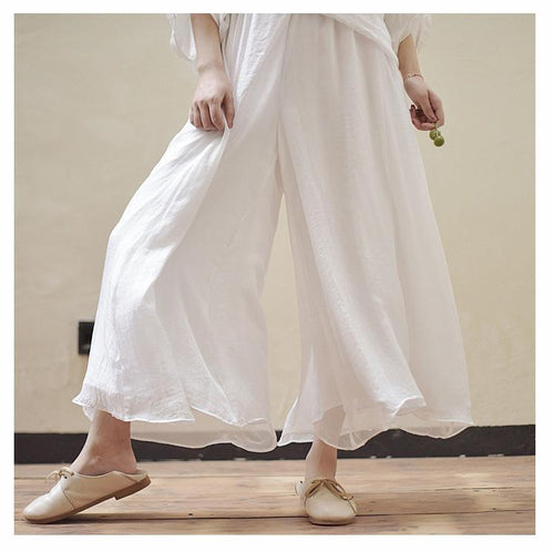 Cotton and Linen Loose Wild Casual Pants Wide Leg Pants Yoga Pants