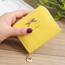 Load image into Gallery viewer, Women's Coin Bag Bow Coin Purse Zipper Wallet Purse Card Holder