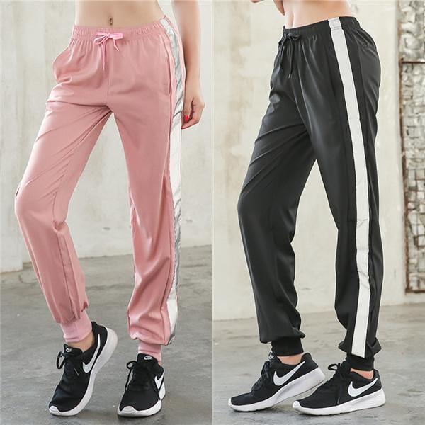 Loose Reflective and Quick-drying Thin Sweatpants