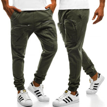 Load image into Gallery viewer, Zippered Casual Sweatpants Pants