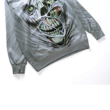 Load image into Gallery viewer, Horror  skull print Halloween Men Hoodie