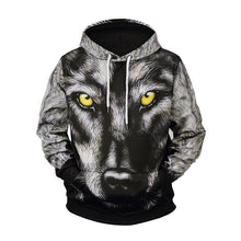 Load image into Gallery viewer, Wolf Print Long Sleeve Hoodie