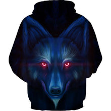 Load image into Gallery viewer, Men's and Women's 3D Wolf Printed Hoodie