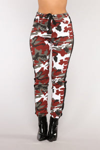 Camouflage Printed Tight-fitting Casual Women Camo Pants