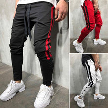 Load image into Gallery viewer, Side Striped Contrast Sports Pants