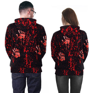 Halloween Horror Blood Doll Print Sweatshirt Hoodie Halloween Costumes