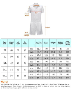 Men's Beige Color Casual Short Sleeve Shirt One Piece Romper