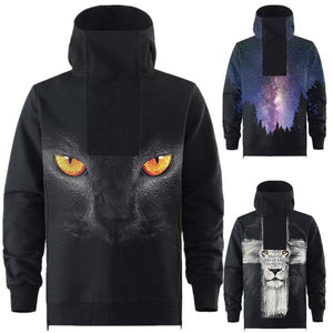 Animal Printing Hooded Sweater Large Size Hoodies