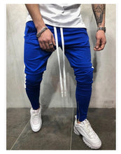 Load image into Gallery viewer, Color Block Pockets Drawstring Slim Fit Track Pants