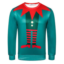 Load image into Gallery viewer, Christmas Print Crew Neck Long Sleeve Sweatshirt