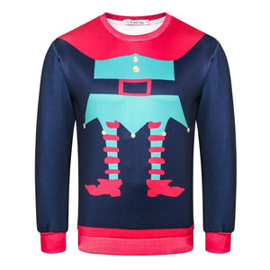 Christmas Print Crew Neck Long Sleeve Sweatshirt