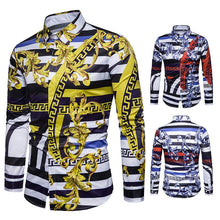 Load image into Gallery viewer, Men's Casual Digital Print Long Sleeve Shirt