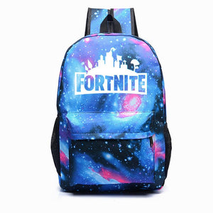 Fortnite Printed Luminous School Canvas Backpacks