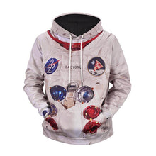 Load image into Gallery viewer, Astronaut Print Hooded Sweater Loose Hoodie