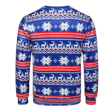 Load image into Gallery viewer, Christmas Snowflake Print Christmas Round Neck Long Sleeve Sweater