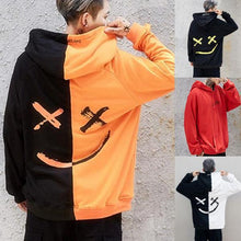 Load image into Gallery viewer, Loose Hip Hop Smiley Stitching Hoodie