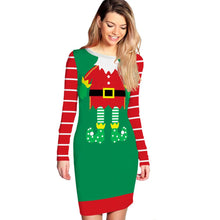 Load image into Gallery viewer, Sexy Print Christmas Dress