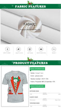 Load image into Gallery viewer, Christmas Print Loose T-Shirt