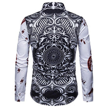 Load image into Gallery viewer, Men's Casual Business Poker Long Sleeve Shirt