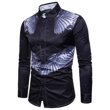 Load image into Gallery viewer, Men's Casual Business Angel Wings Long Sleeve Large Size Shirt