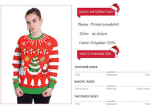 Load image into Gallery viewer, Christmas Tree Digital Print Round Neck T-shirt Tops
