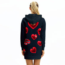 Load image into Gallery viewer, Stylish Printed Hoodie Dress