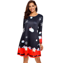 Load image into Gallery viewer, Santa Claus Printed Christmas Dress