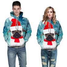Load image into Gallery viewer, Cat Print Pullover Sports Christmas Sweatshirt
