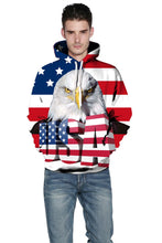 Load image into Gallery viewer, Eagle Printed Hooded Loose Couple hoodie Sweatshirt