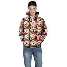 Load image into Gallery viewer, Christmas Dogs Print Hooded Sweater