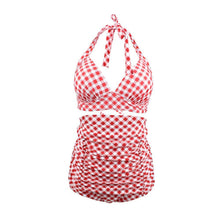 Load image into Gallery viewer, High Waisted Halter Open Back Women Retro Sexy Bikini Swimwear Bathing Suit