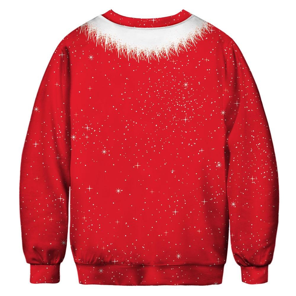 Large Size Christmas Outfit Long Sleeve Sweatshirt