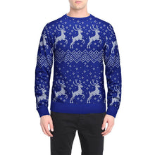 Load image into Gallery viewer, Snowflake Reindeer Print Round Neck Loose Christmas Top