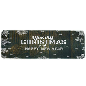 Christmas Decoration Non-slip Mat Kitchen Bathroom Foyer Mat