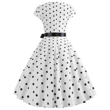 Load image into Gallery viewer, Thin 1950s Retro Vintage Cocktail Party Short Sleeve Swing Dress