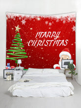 Load image into Gallery viewer, Santa Claus Print Wall Hanging Christmas Tapestry