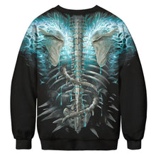 Load image into Gallery viewer, Halloween Skull Digital Print Sweatshirts Plus Size Long Sleeve Shirt