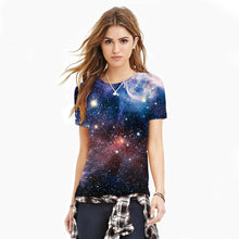 Load image into Gallery viewer, 3D Galaxy Printed Casual Short Sleeve T-shirt