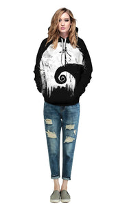 3D Digital  Print Sports Casual Hoodie