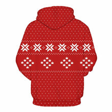 Load image into Gallery viewer, Large size Loose Shy Santa Shy Pattern Hoodie