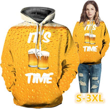 Load image into Gallery viewer, 3D Beer Fashion Casual Loose Funny Cool Long Sleeve Hoodie Casual Hooded Sweatshirt Jacket