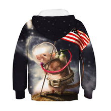 Load image into Gallery viewer, Children's American Flag Digital Print Hoodie Hoodie