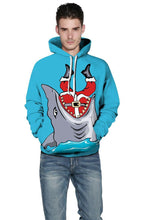 Load image into Gallery viewer, Shark Print 3D Pullover Sports Christmas Sweatshirt