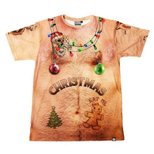 Load image into Gallery viewer, Men's Print Christmas Short Sleeve T-Shirt